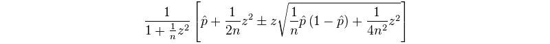 Wilson Score Interval Formula