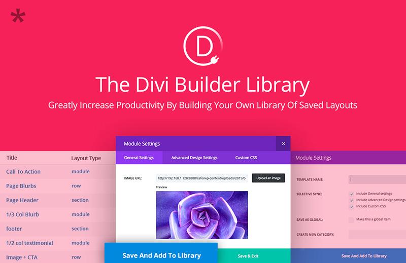 Divi Builder Library