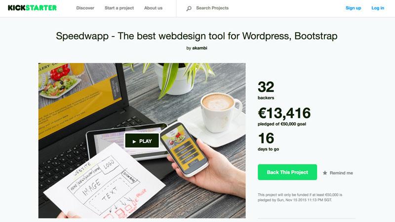 Speedwapp Kickstarter