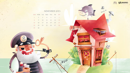 Desktop Wallpaper Calendars: November 2015