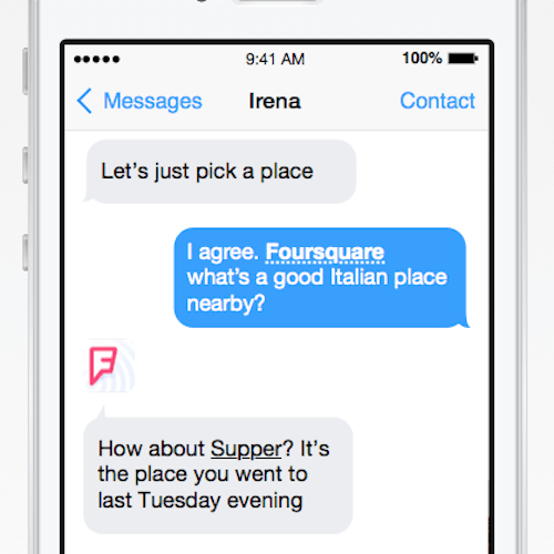 Apps and services integrated into text messages. Is this the future of text?