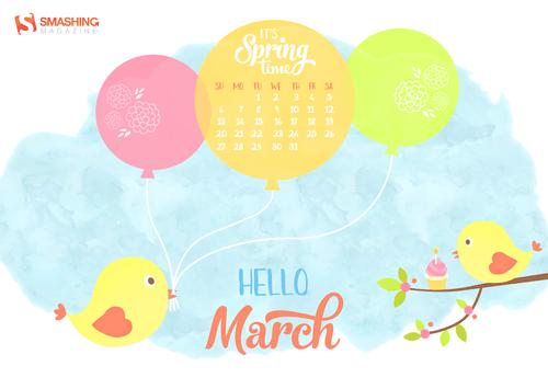 Desktop Wallpaper Calendars: March 2016