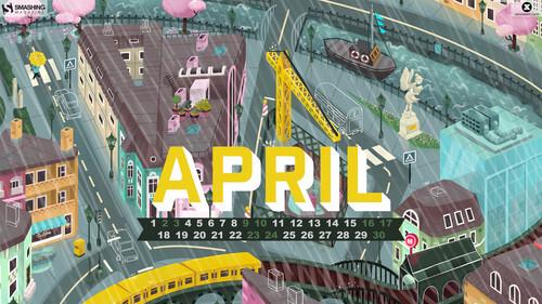 Desktop Wallpaper Calendars: April 2016