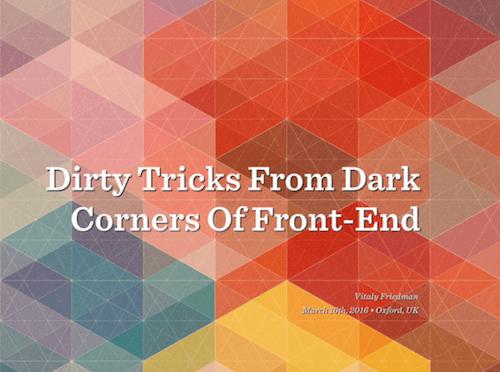 Front-End Tips and Tricks: Slides PDF
