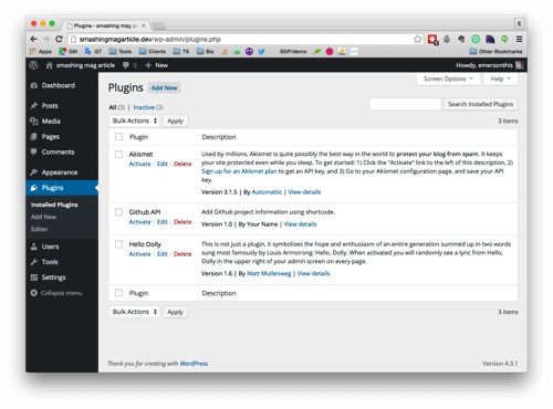 """Making A WordPress Plugin That Uses Service APIs, """"From Soup To Nuts"""""""