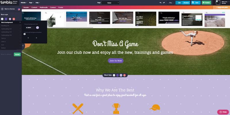 Simbla - A New Effective Website Builder