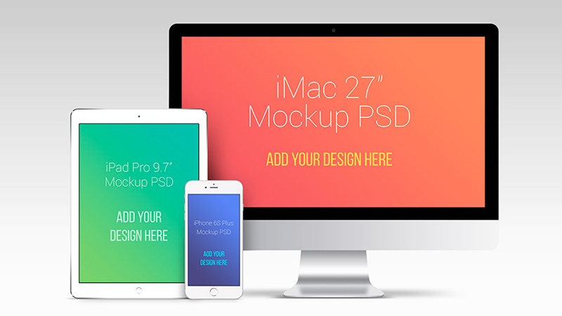 Apple Devices PSD Mockup Template