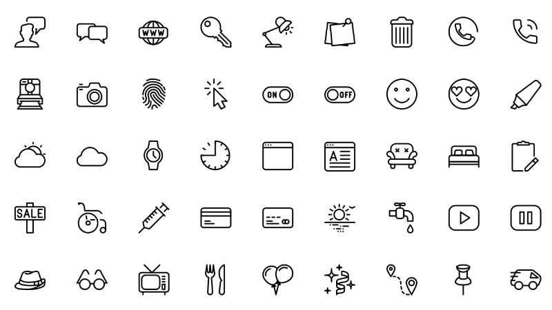 Vector Line & Solid Icons Pack