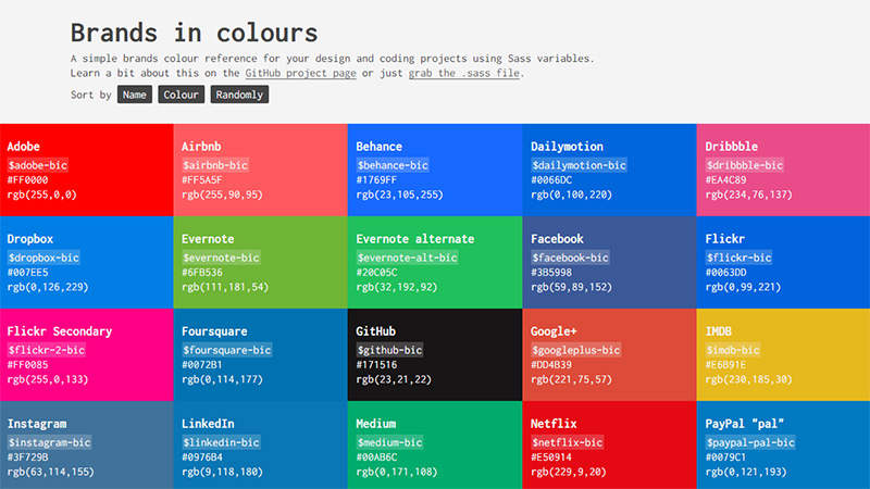 Brands in Colours
