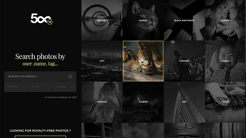 500px Redesign