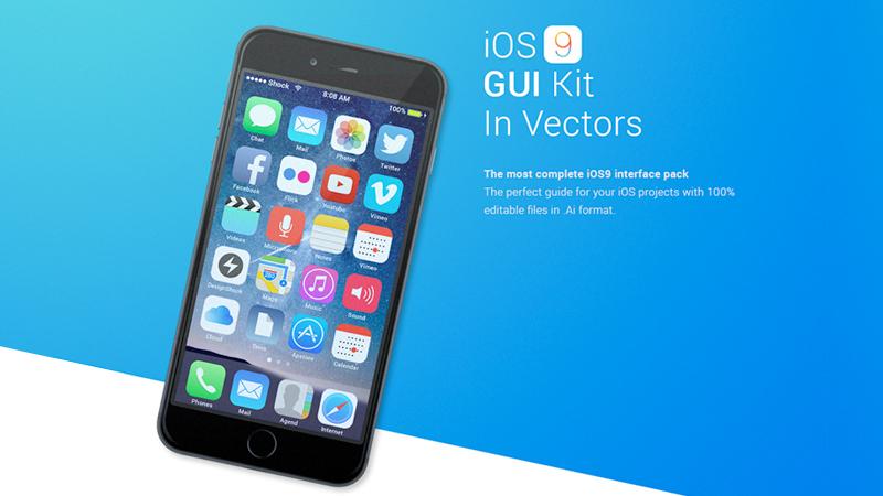 iOS9 Vector UI Kit