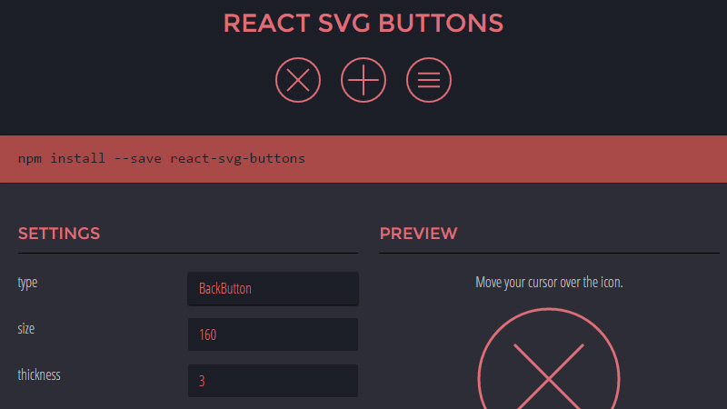 React SVG Buttons