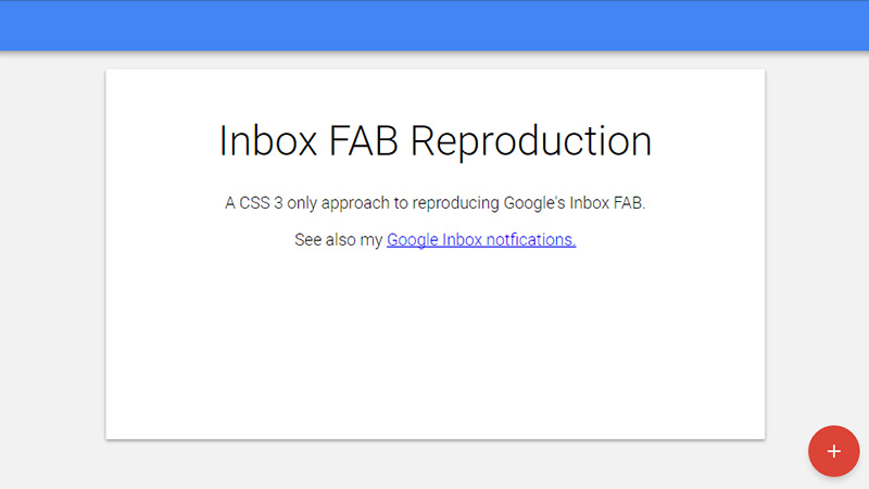 CSS3 Only Reproduction of the Google Inbox FAB