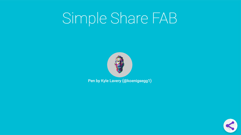 Pure CSS3 Animated Share FAB