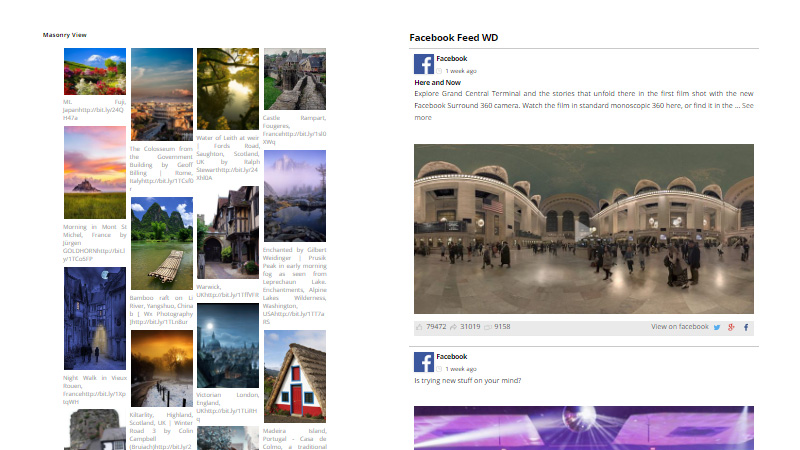 Facebook Feed WD