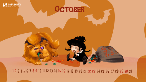 Desktop Wallpaper Calendars: October 2016