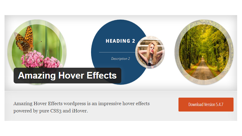 Amazing Hover Effects WP Plugin