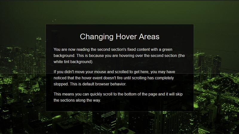 CSS Scroll Jacking Demo