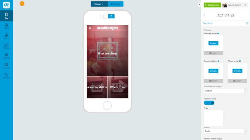 Custom Mobile Design with the GoodBarber App Builder - The Branding