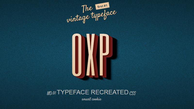 Vintage Typeface