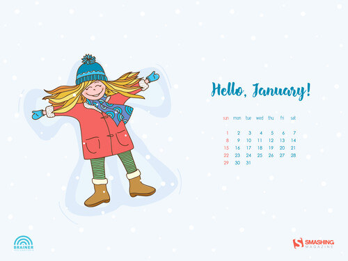 Desktop Wallpaper Calendars: January 2017