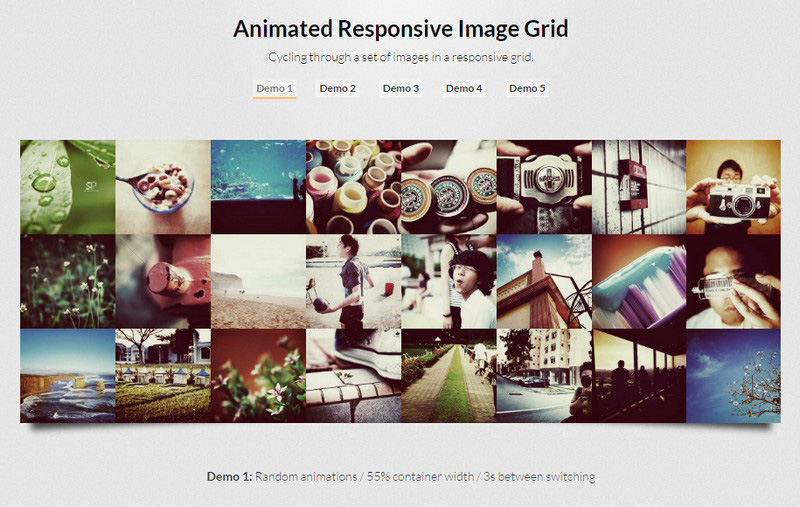 Animated Responsive Grid