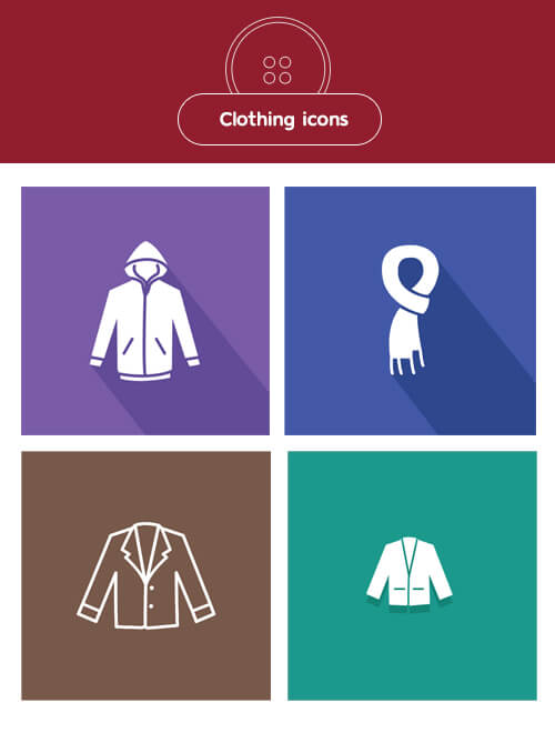 Freebie: Clothing Icons (9 Styles, AI, EPS, SVG, PNG)