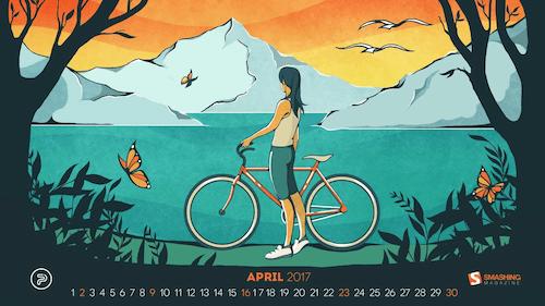 Desktop Wallpaper Calendars April 2017