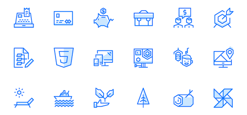 Free Geometric UI Icons With A Fresh And Futuristic Twist (100 Icons, 6 Formats)