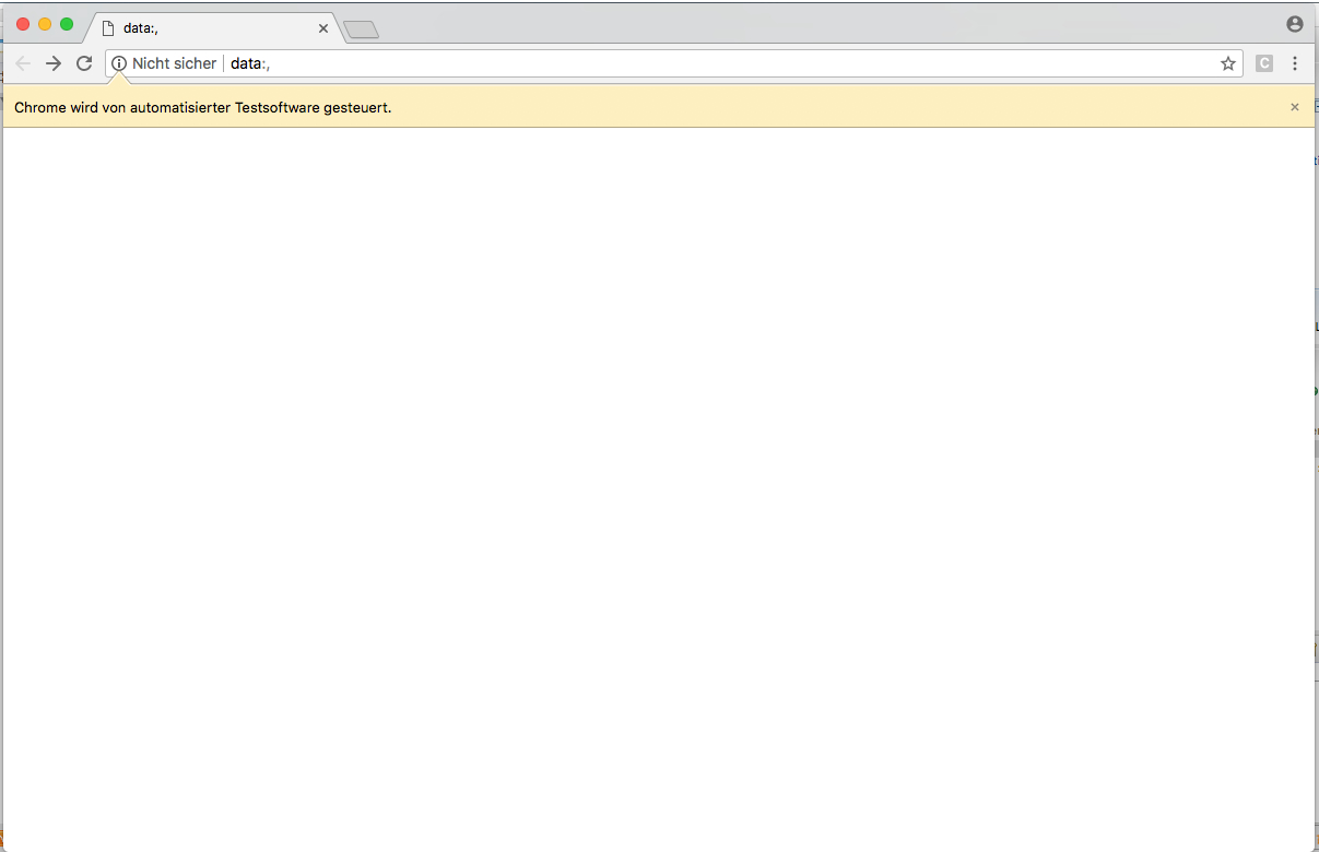 Chrome Browser blank window