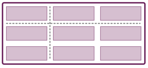 Image shows a grid with column and row lines highlighted
