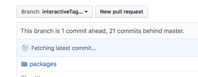 "The ""Fetching latest commit…"" section will spin forever…"
