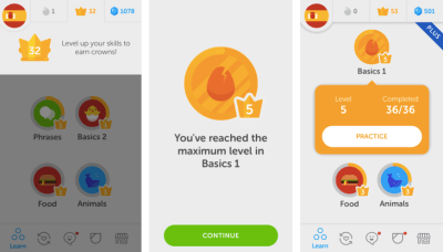 Evoking a positive emotional response in users is key to creating a delightful UX. Duolingo transforms the task of learning a new language into an inviting experience. This motivates users to level up and achieve mastery in the discipline.