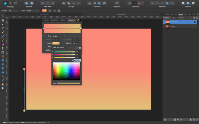 Setting gradient colors.