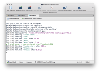 Commandline output