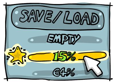 Save/load game progress