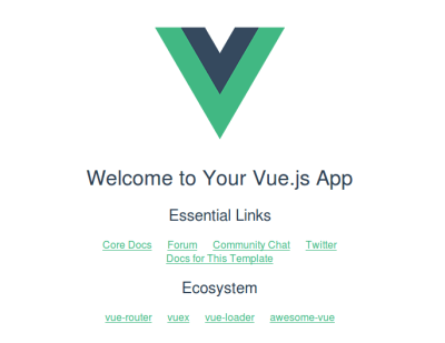 A Vue application