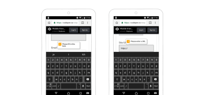 HTML native form validation in an Android browser