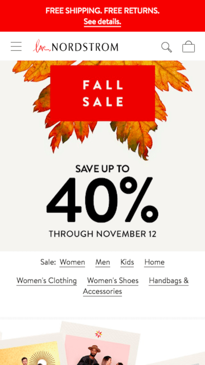 Nordstrom free shipping