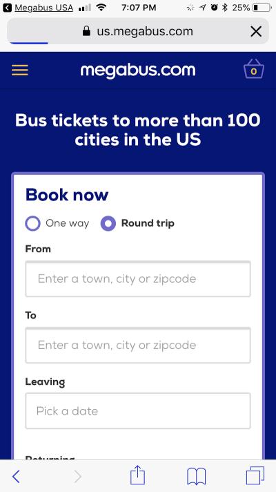 Megabus tickets
