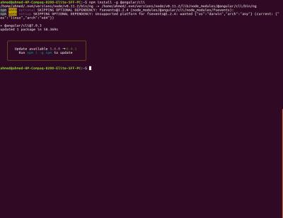 Installing Angular CLI v7