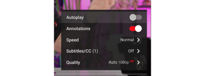 In-video autoplay disable