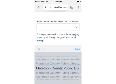 "Scrolling further down the list just to find a number of libraries named ""Marathon County Public Library"""