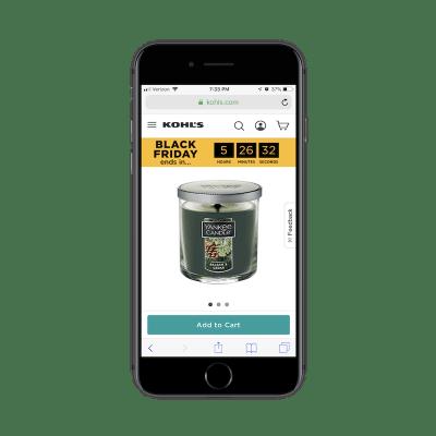Kohl's mobile product views