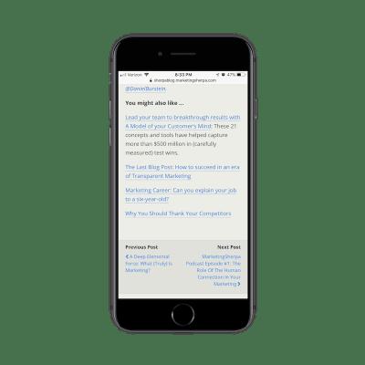 MarketingSherpa mobile sidebar