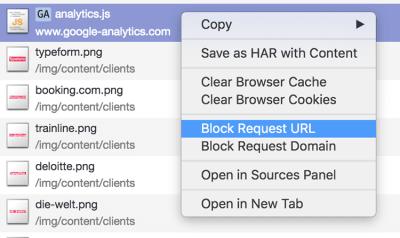 request blocking