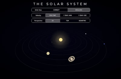 Solar system built with CSS