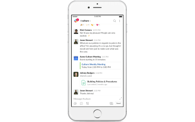 A glimpse into real-time collaboration between Slack users