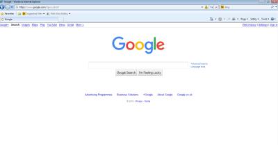 Screenshot of Google.com