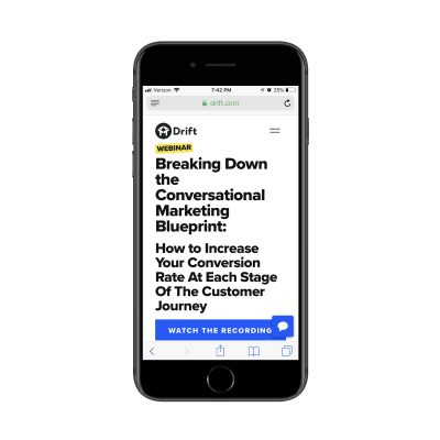 Drift webinar link